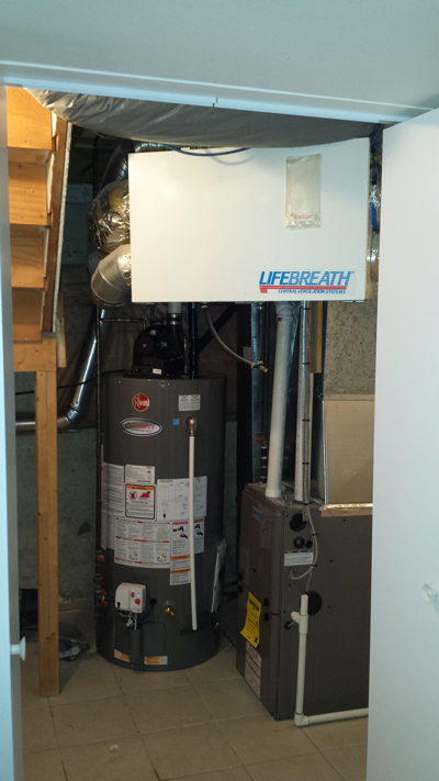 Heat Recovery Ventilator Installation in Barrie, Ontario